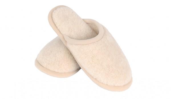 Camel Damen Hausschuhe aus Wolle - Rutschfeste Pantoletten